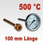 Mobile Preview: Backofenthermometer 500°C mit Tauchrohr 100 mm