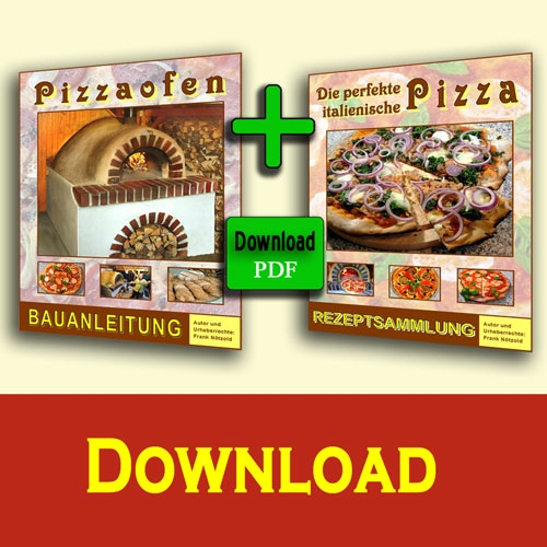 Sonderangebot Pizzaofen Bauanleitung + Backbuch Download-Version